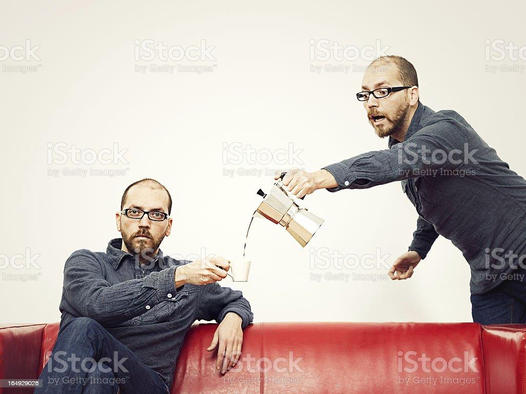 Assisting himself stock photo