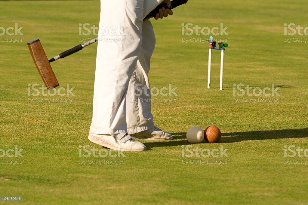 Association Croquet stock photo