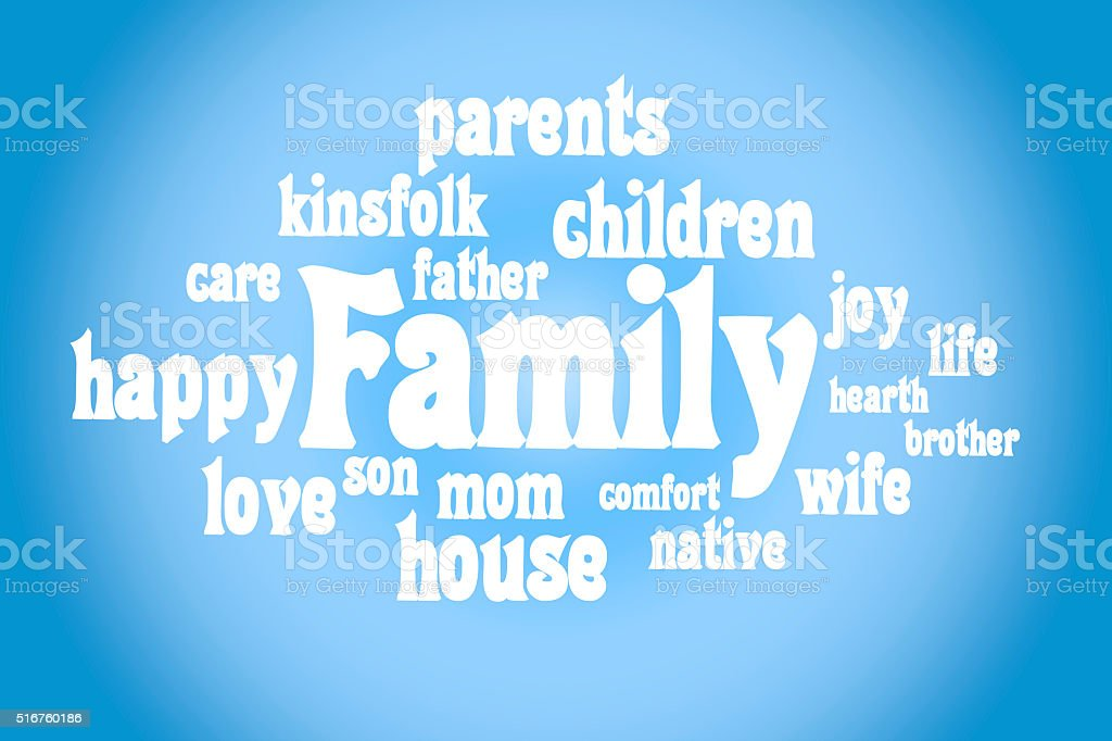 Association to the word family stock photo