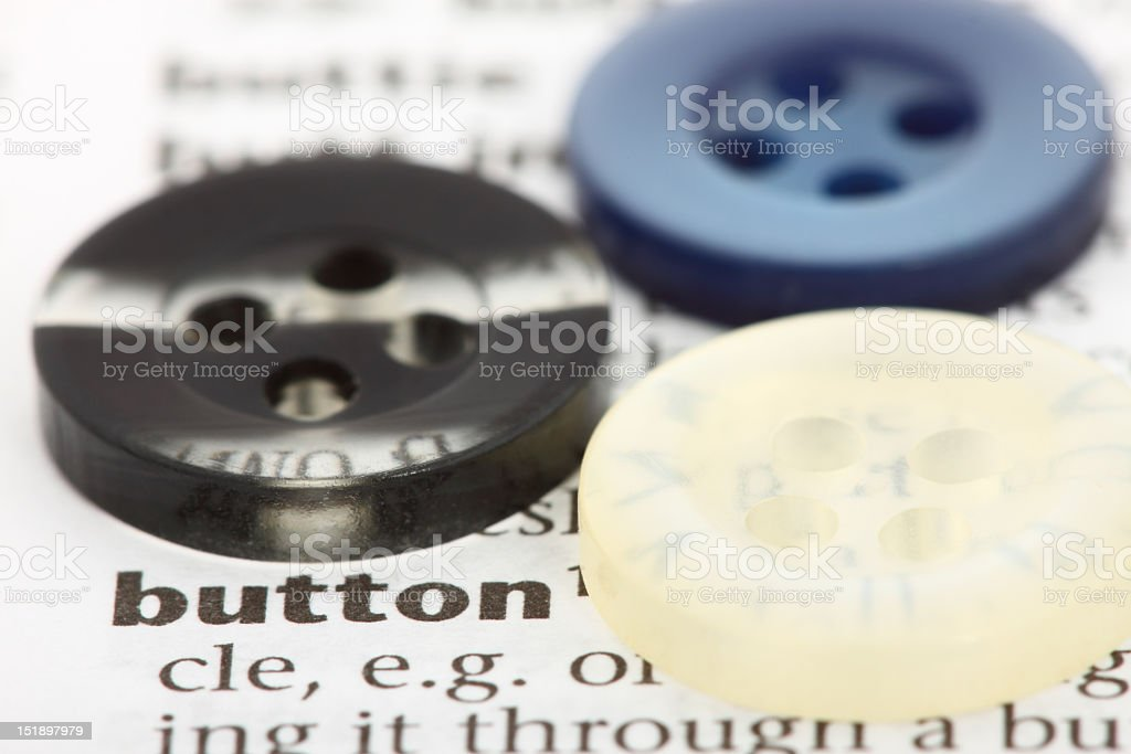 Associations. What the words mean. Button. royalty-free stock photo