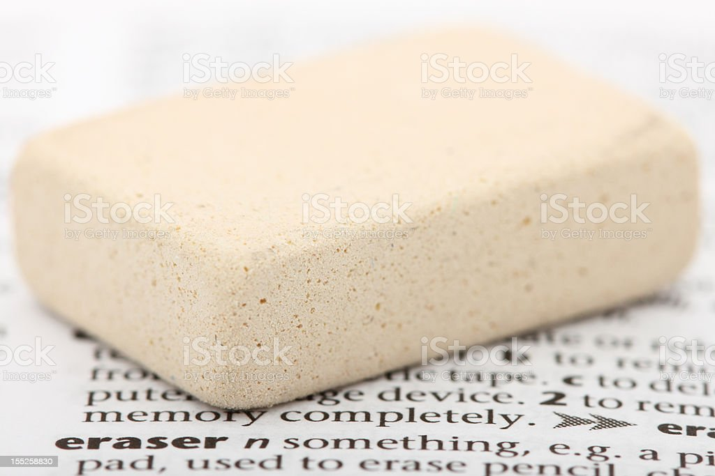 Associations. What the words mean. Eraser. royalty-free stock photo