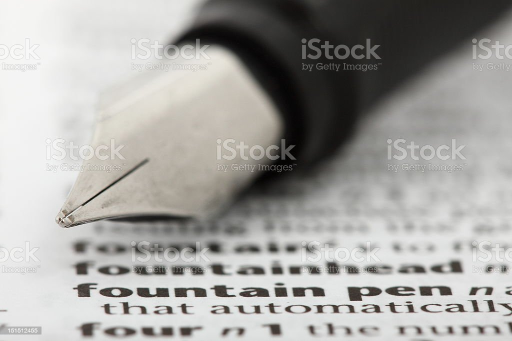 Associations. What the words mean. Fountain pen. royalty-free stock photo