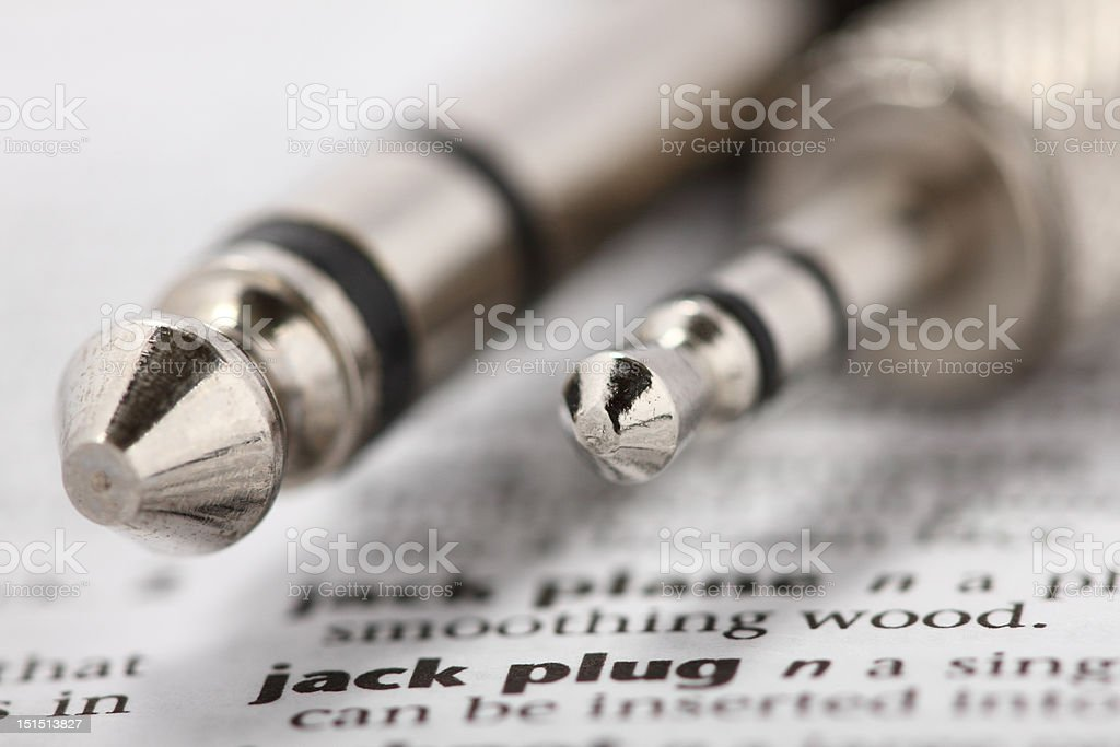 Associations. What the words mean. Jack plug. royalty-free stock photo