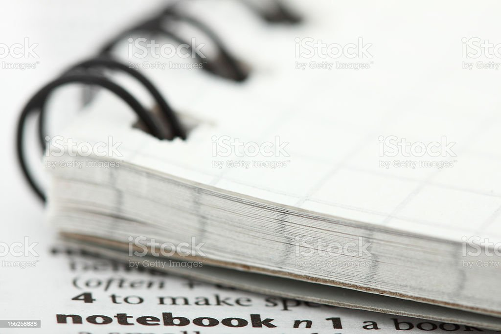 Associations. What the words mean. Notebook. royalty-free stock photo