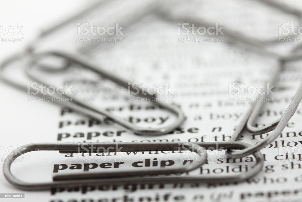 Associations. What the words mean. Paper clip. royalty-free stock photo