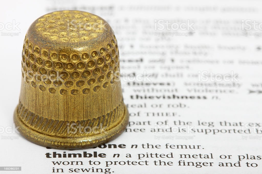 Associations. What the words mean. Thimble. royalty-free stock photo