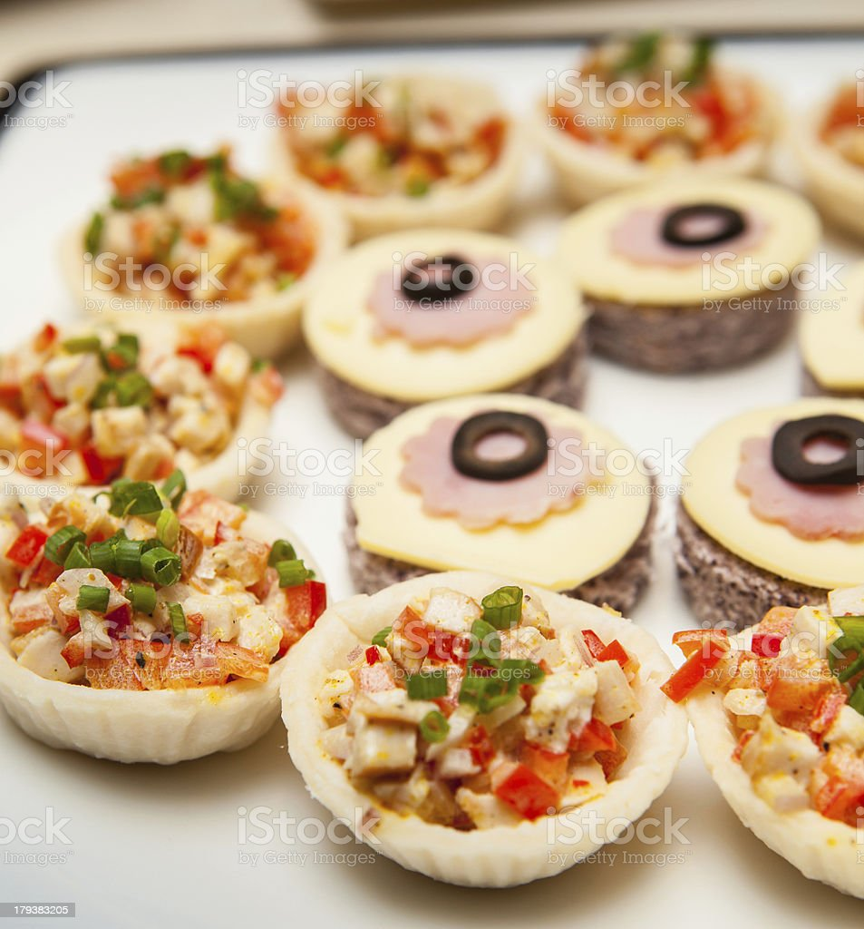 Assorted appetizers. royalty-free stock photo
