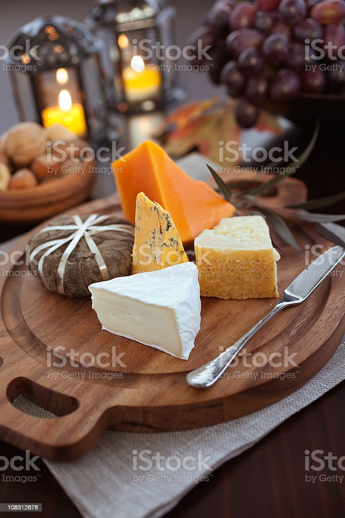 Assorted Artisan Cheese royalty-free stock photo