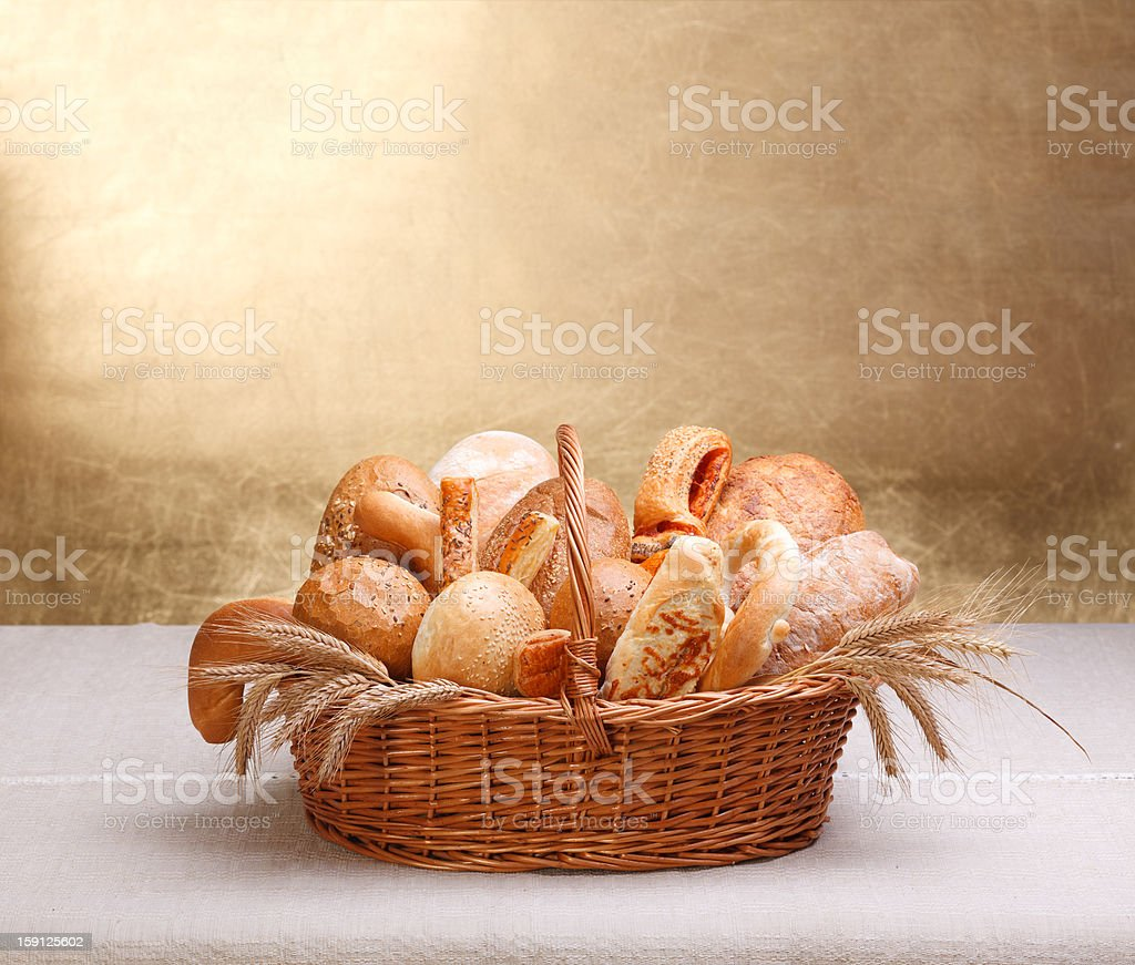 Assorted bakery products royalty-free stock photo