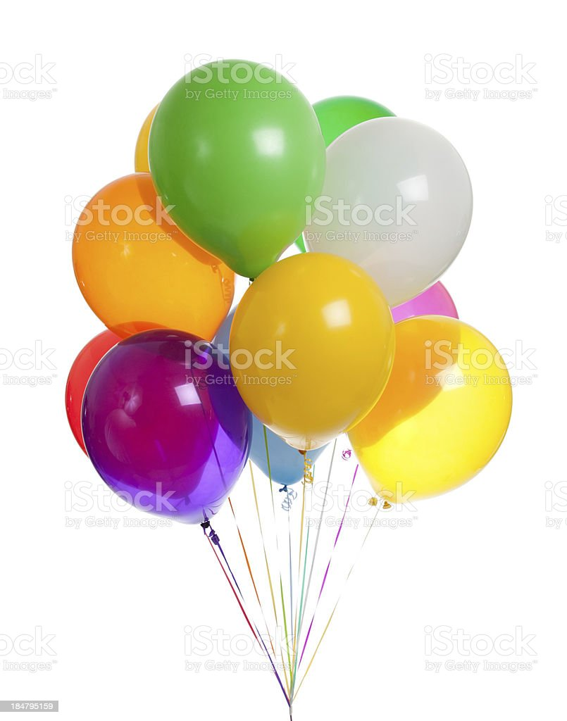 Assorted balloons on a white background royalty-free stock photo