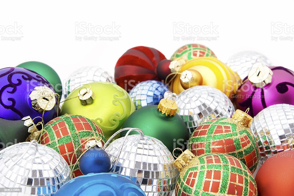 Assorted baubles royalty-free stock photo