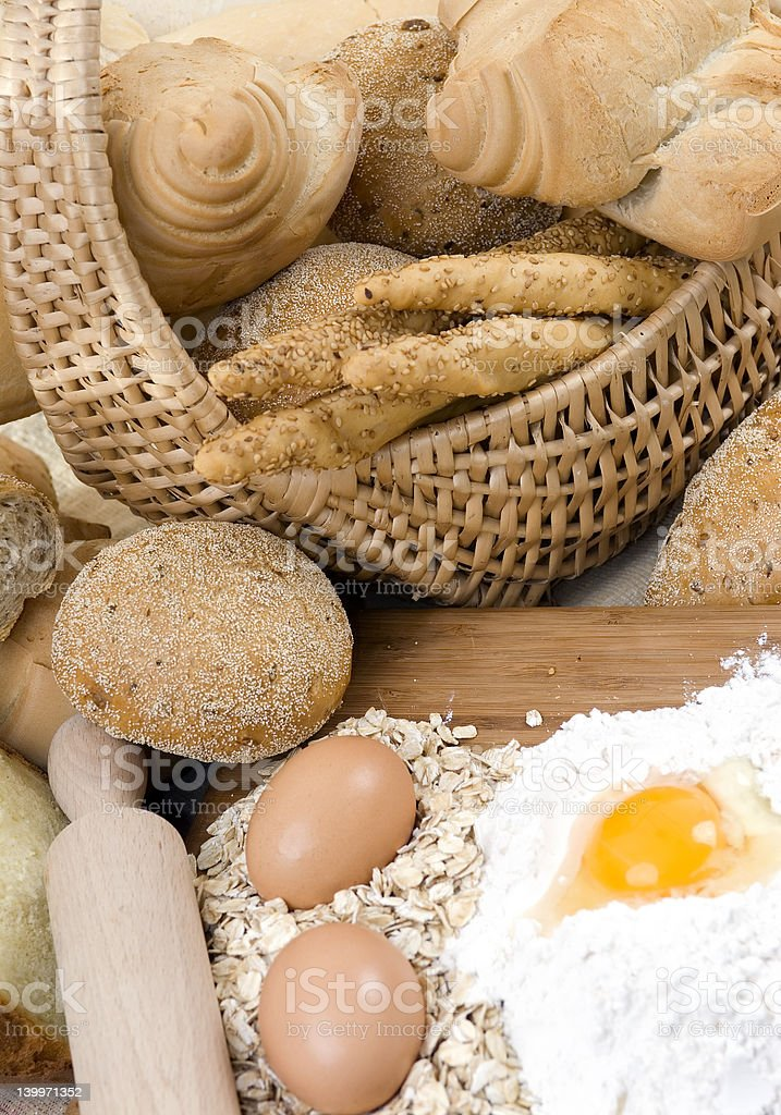 Assorted breads 2 royalty-free stock photo