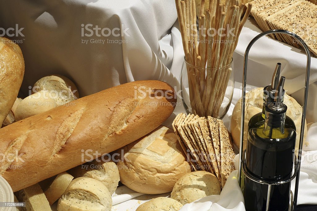 Assorted breads royalty-free stock photo