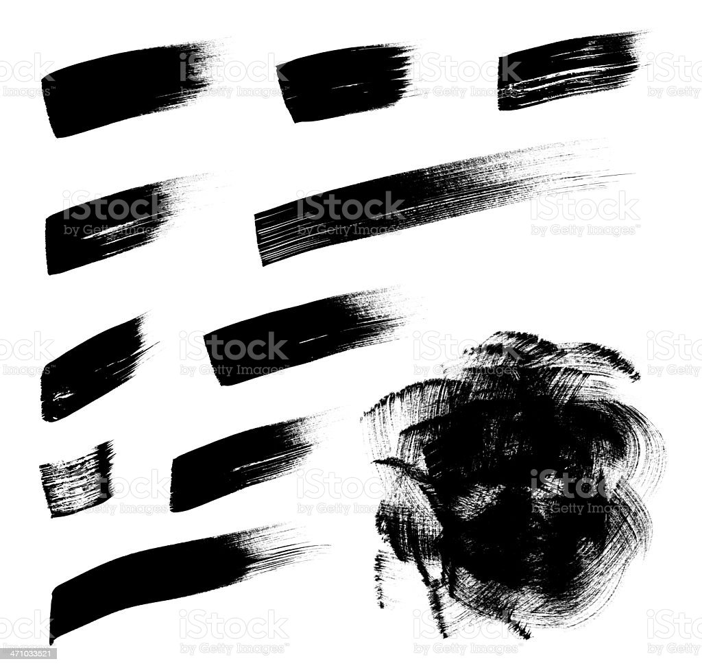 Assorted Brush Strokes royalty-free stock photo