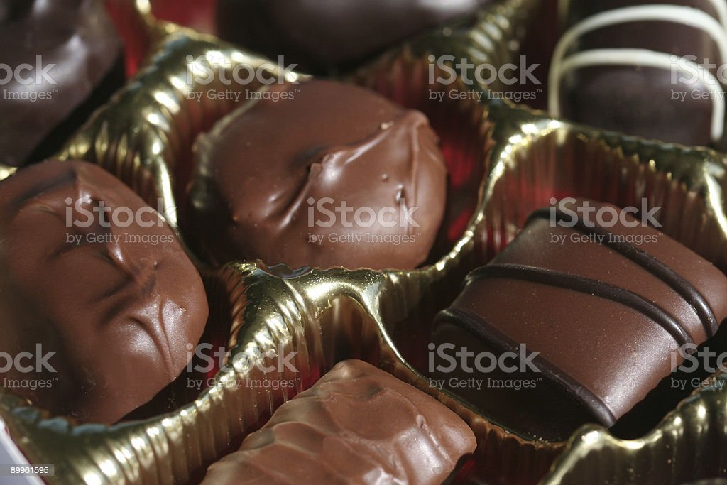 Assorted chocolate royalty-free stock photo