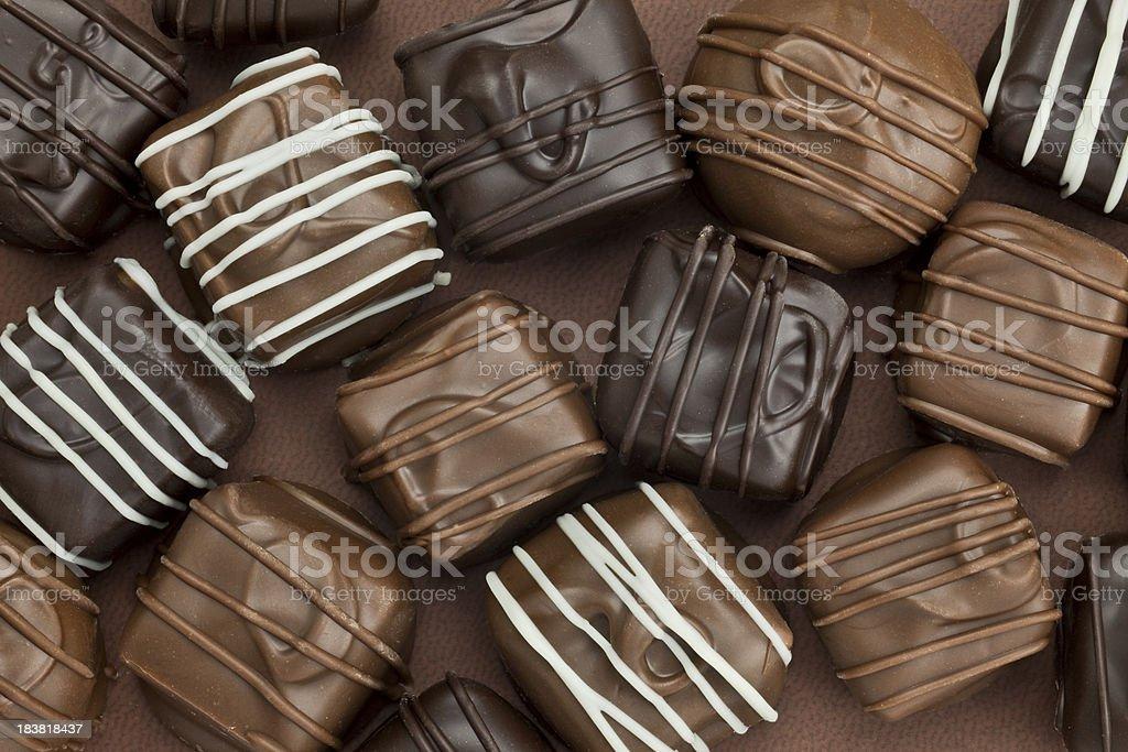 Assorted Chocolates stock photo