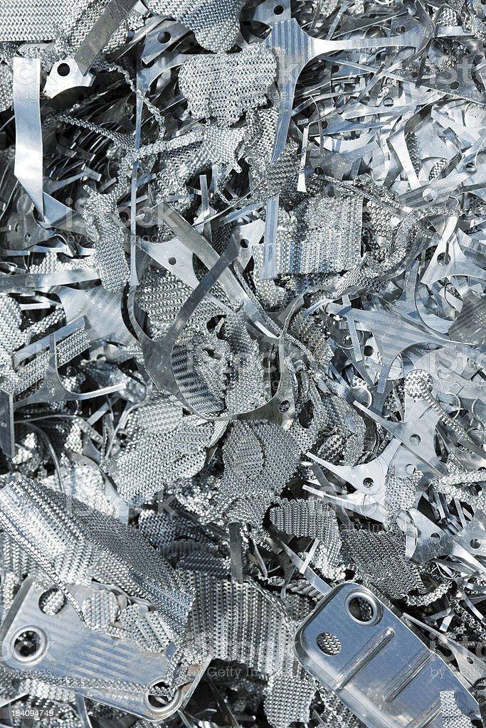 Assorted Clean Aluminium Scrap stock photo
