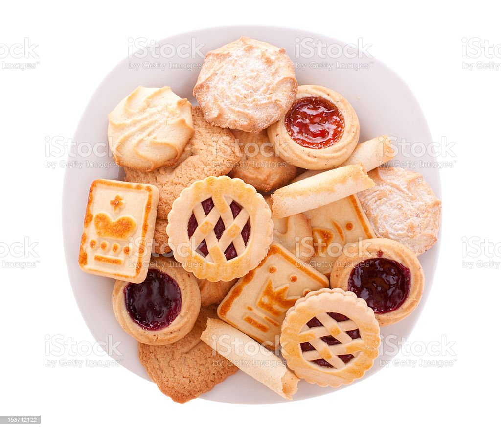 Assorted cookies on a plate stock photo