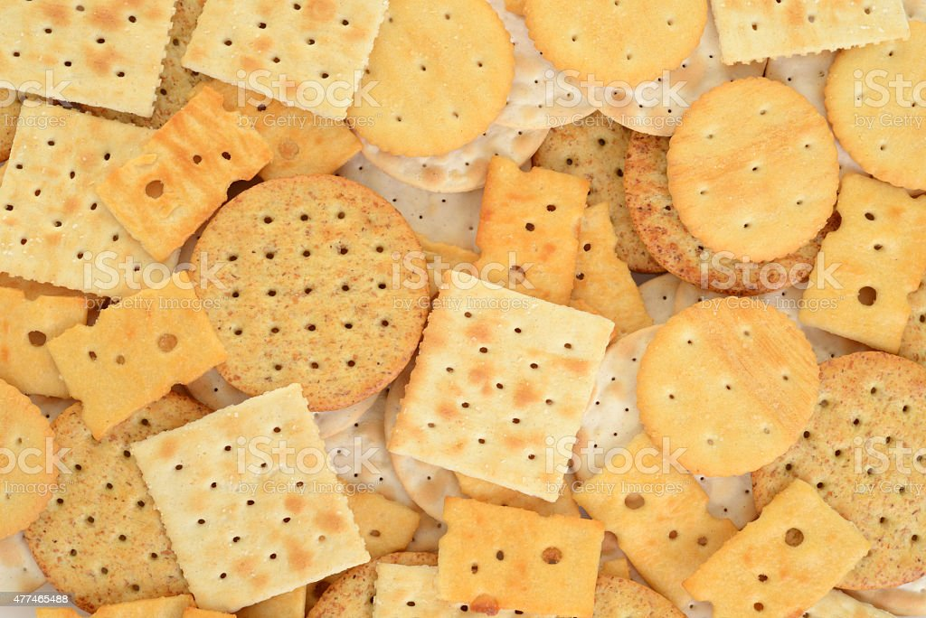 assorted cracker background stock photo