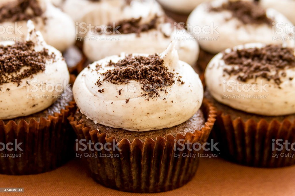 Assorted Cupcakes on Display stock photo