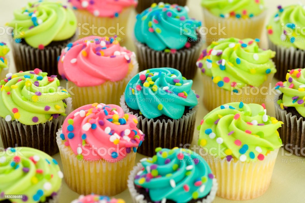 assorted cupcakes royalty-free stock photo