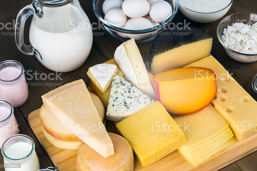 Assorted dairies stock photo