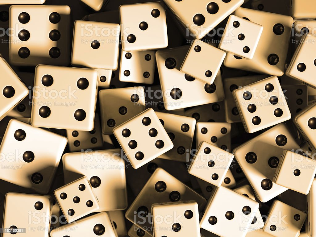Assorted Dice royalty-free stock photo