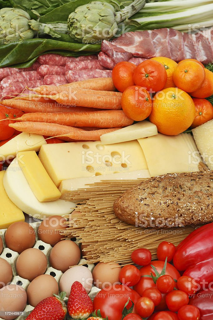 Assorted food royalty-free stock photo