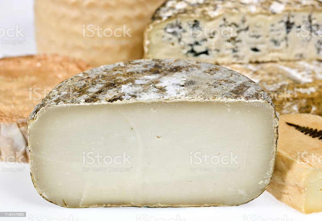 Assorted french cheeses royalty-free stock photo