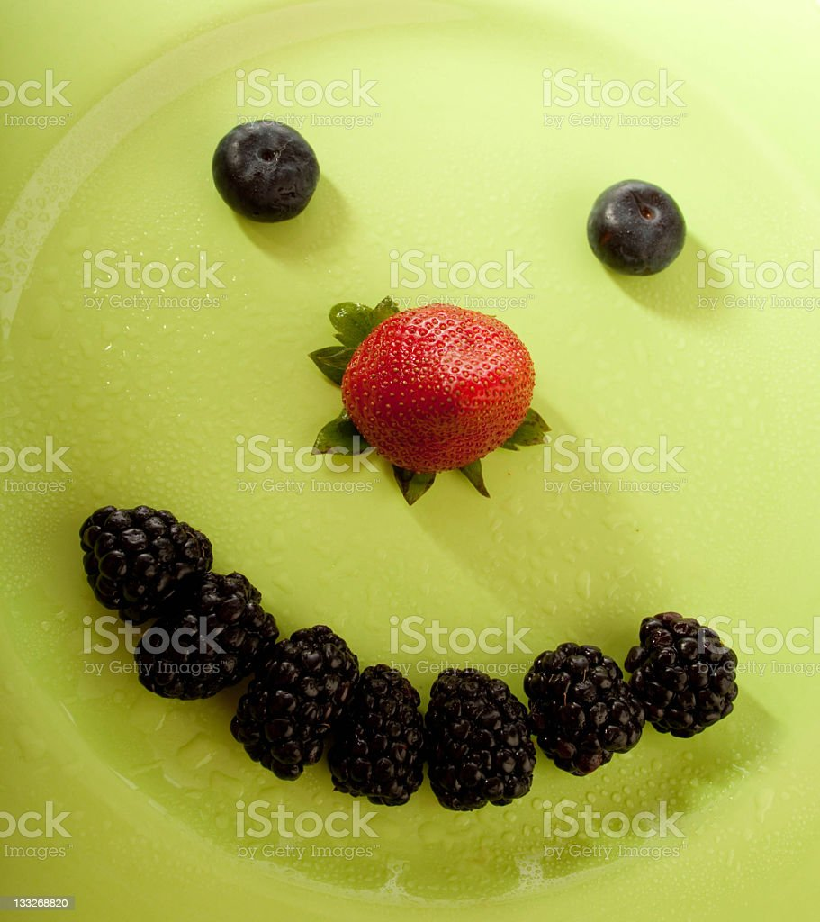 Assorted fresh berries royalty-free stock photo