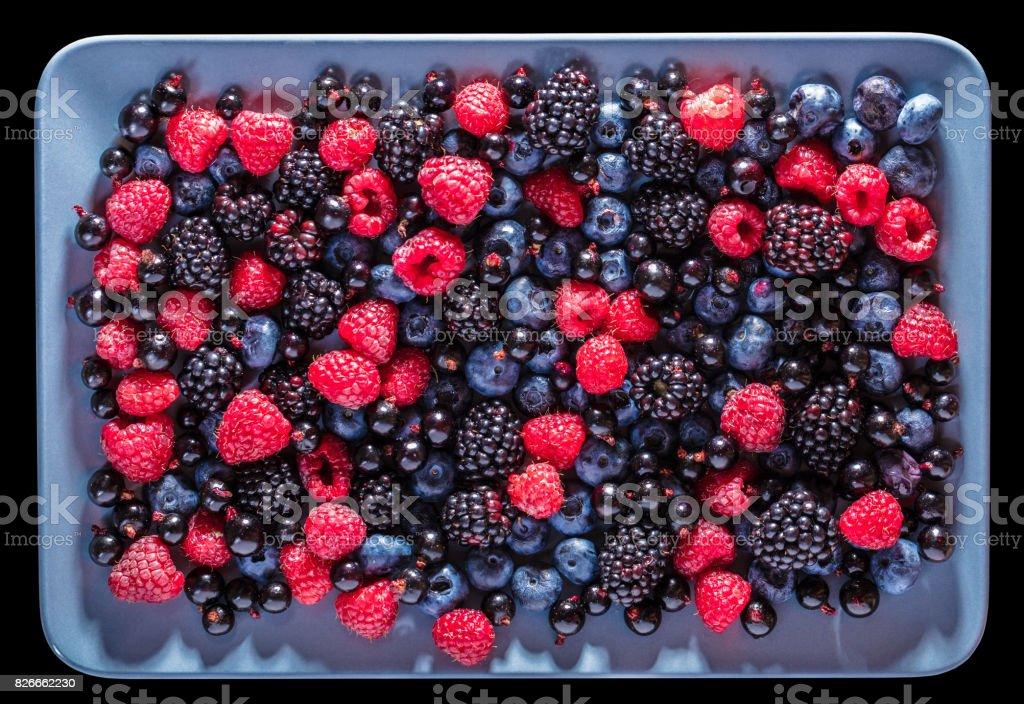 assorted fresh berries stock photo
