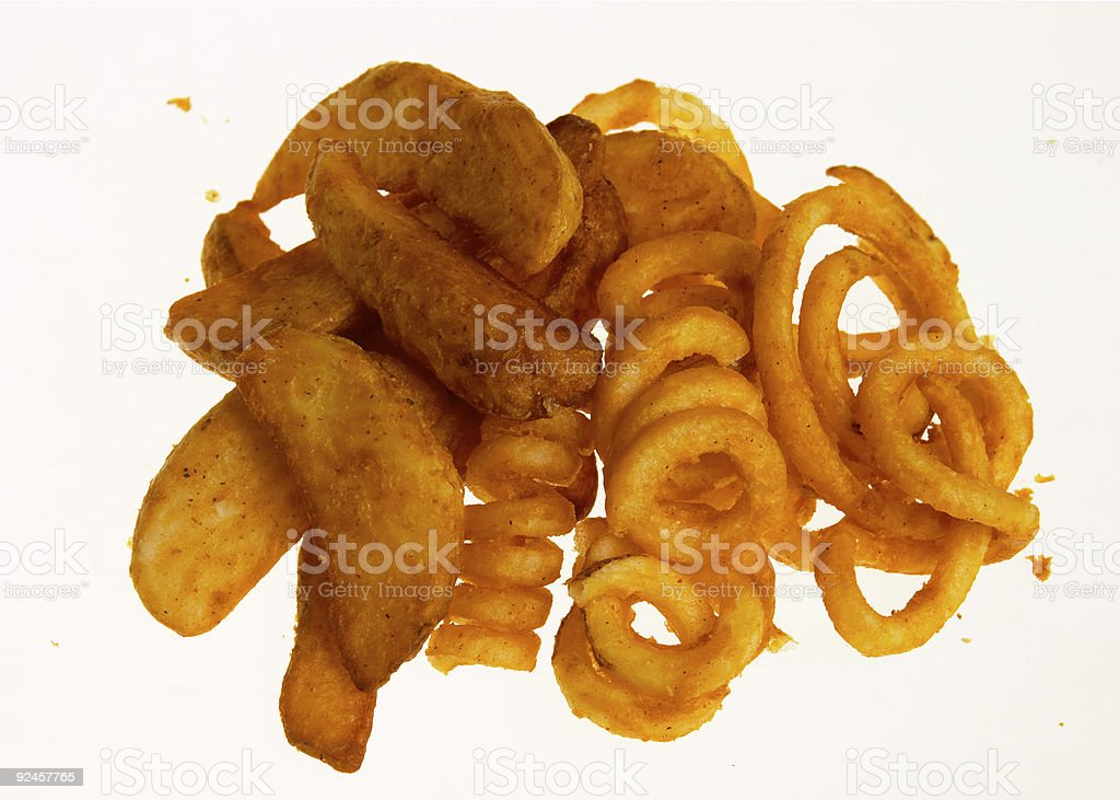 assorted fries royalty-free stock photo