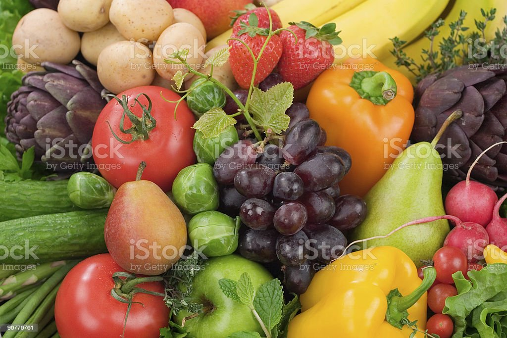 Assorted Fruits & Vegetables stock photo