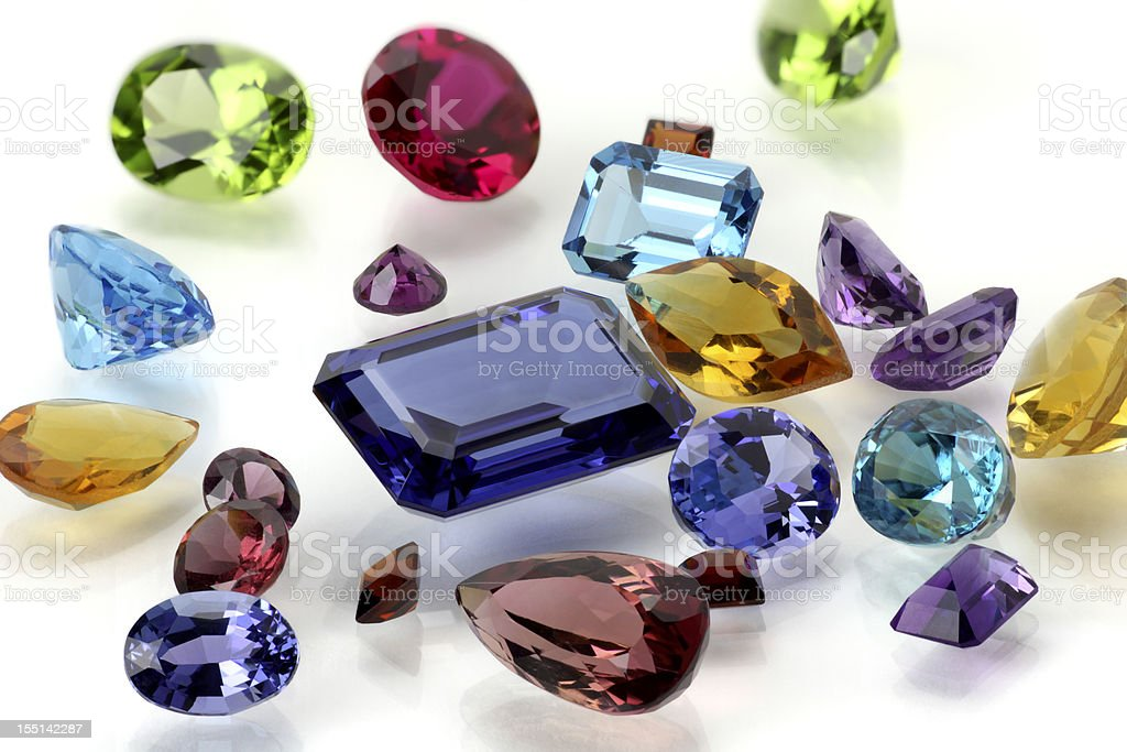 Assorted Gemstones royalty-free stock photo