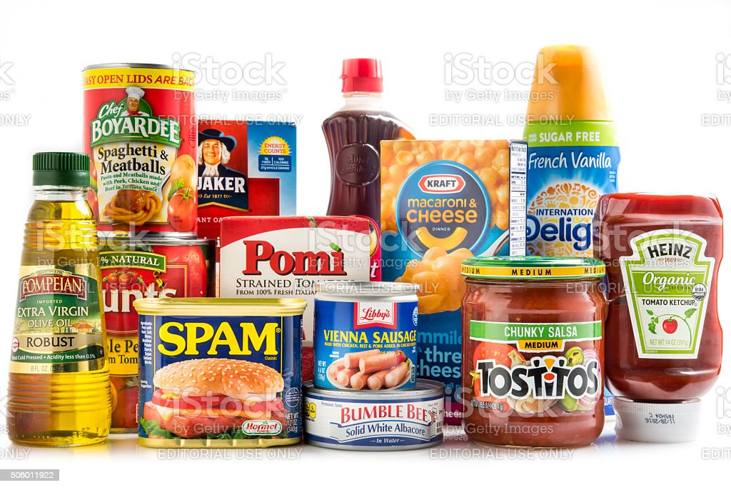 Assorted Groceries stock photo