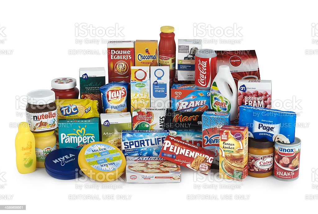 Assorted grocery products | minipackages stock photo