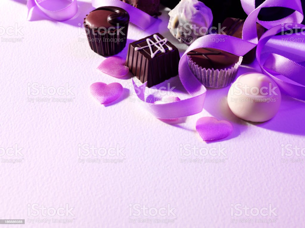 Assorted Handmade Chocolates royalty-free stock photo