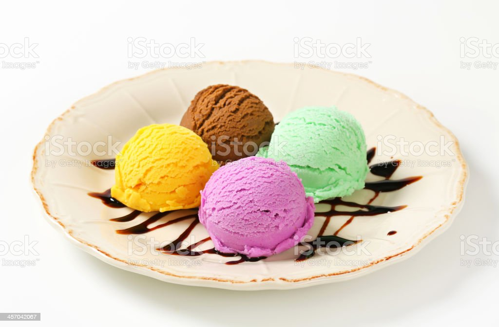 Assorted ice cream royalty-free stock photo