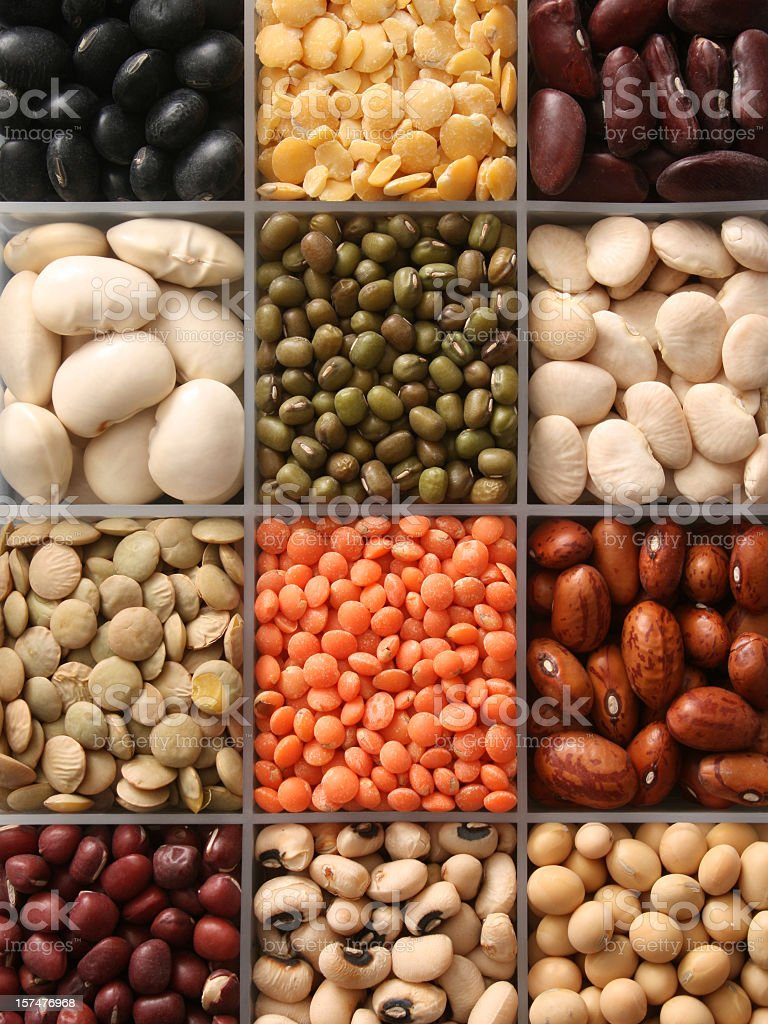 Assorted legumes royalty-free stock photo