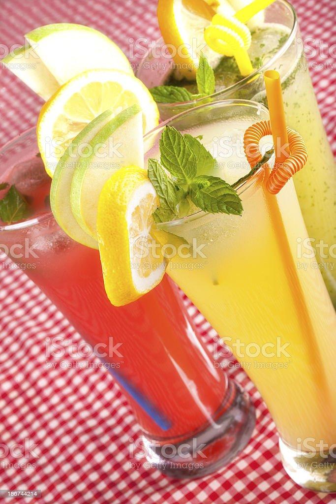 Assorted Lemonades royalty-free stock photo