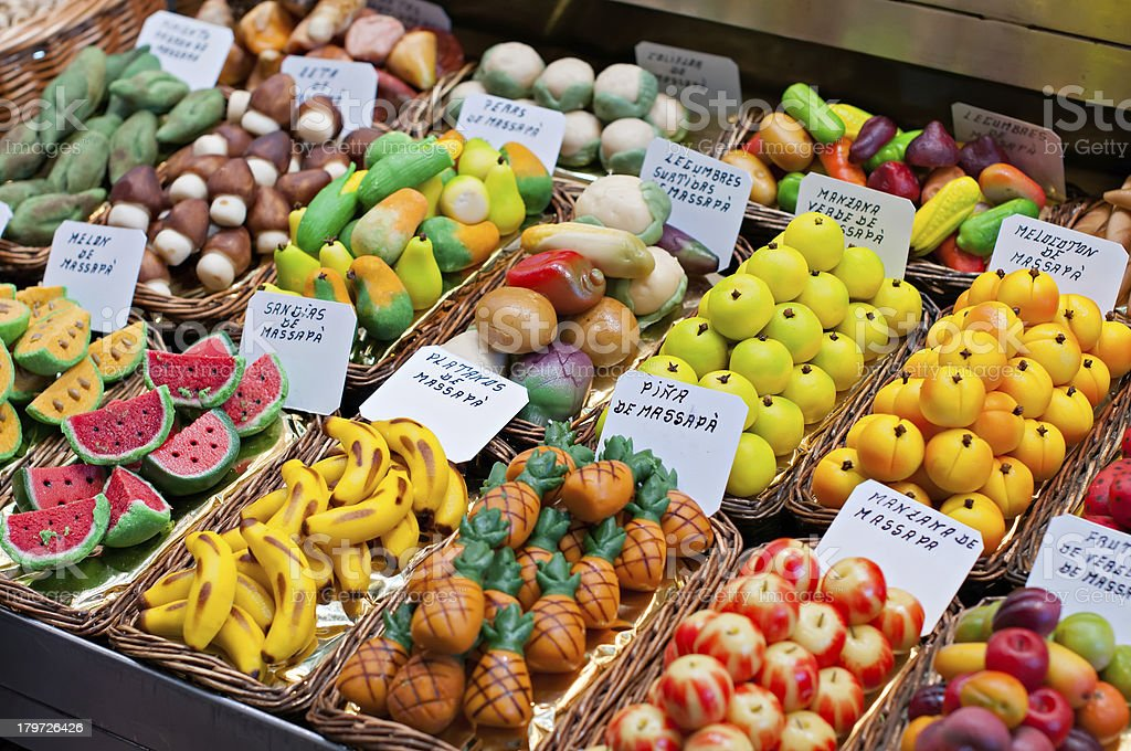 Assorted marzipan royalty-free stock photo