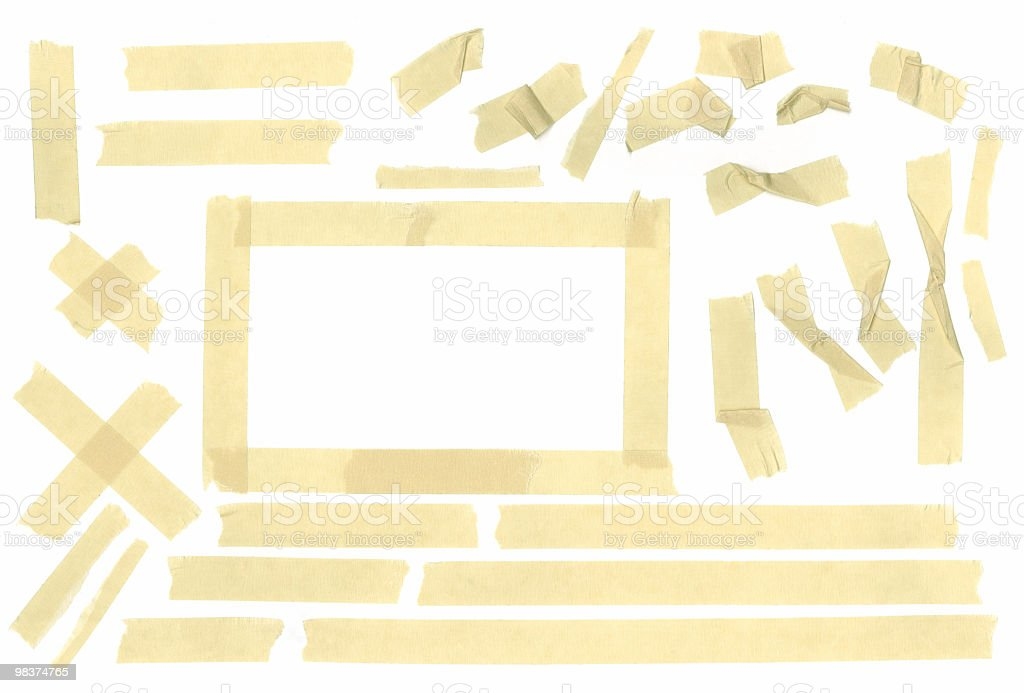 Assorted - Masking tape for your design royalty-free stock photo