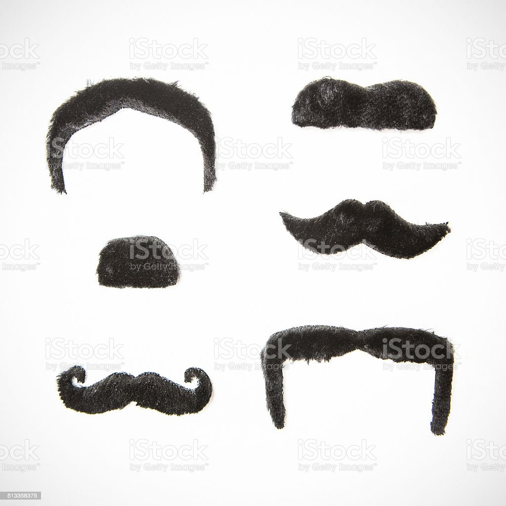 Assorted Mustaches stock photo