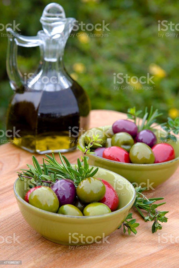 Assorted Olives...Alfresco royalty-free stock photo