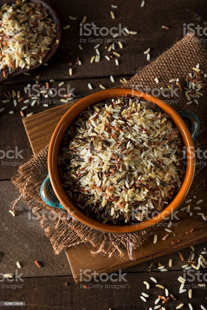Assorted Organic Dry Mixed Rice stock photo