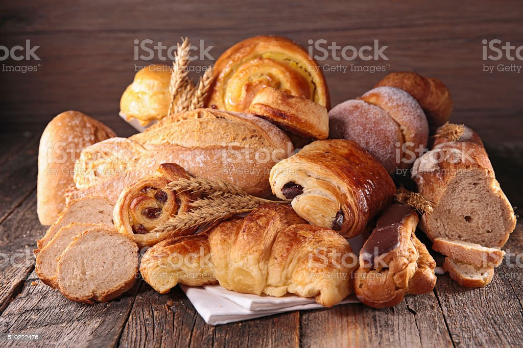 assorted pastry and bread stock photo