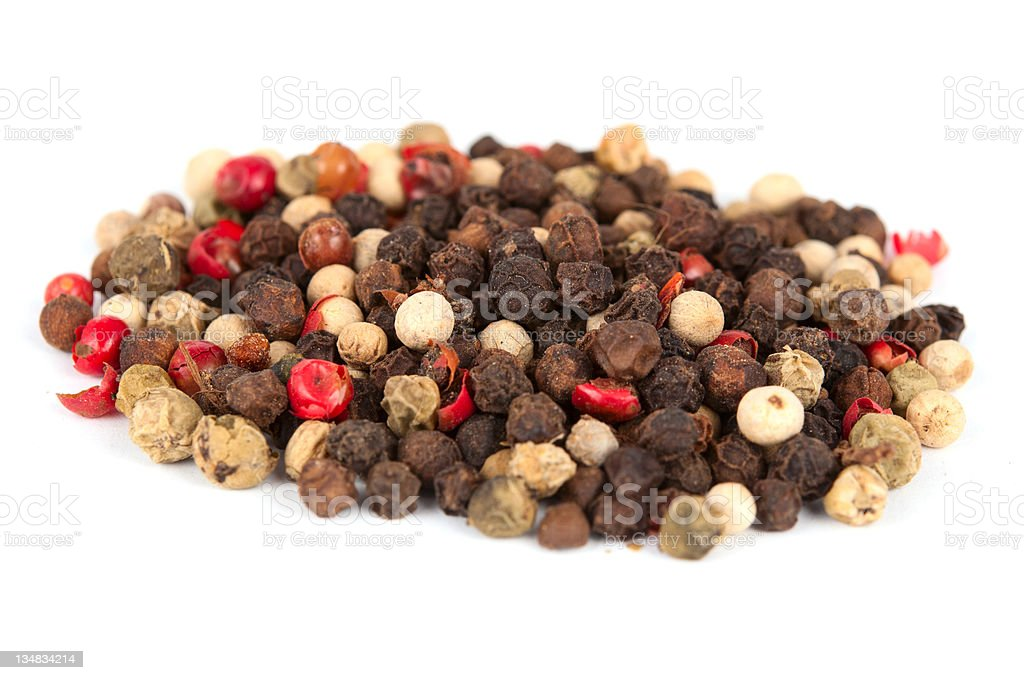 Assorted peppercorns royalty-free stock photo