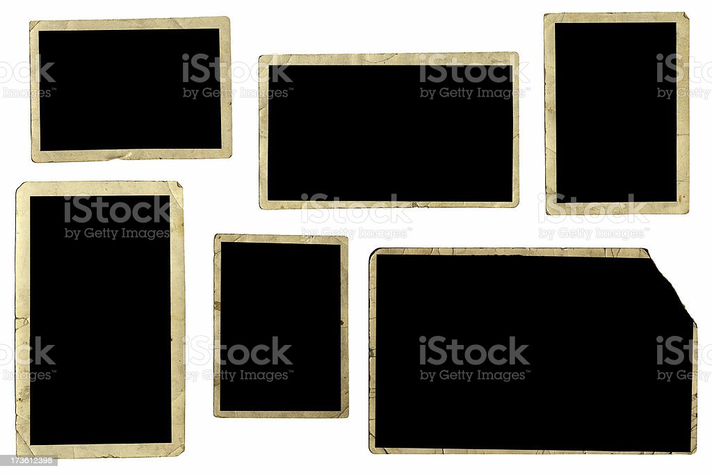 assorted photo frames royalty-free stock photo