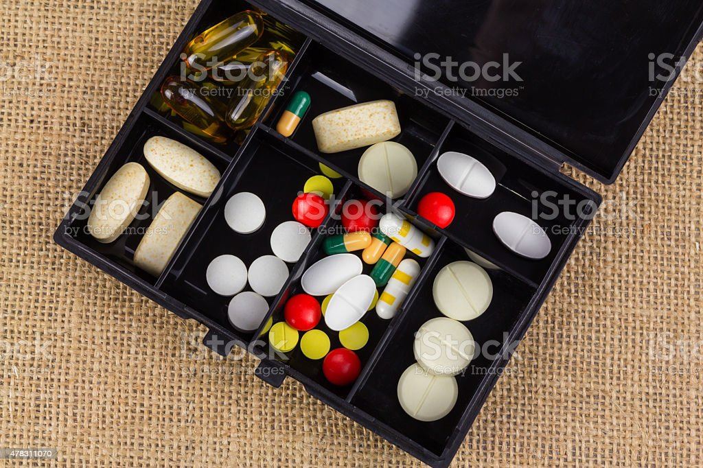 Assorted pills royalty-free stock photo