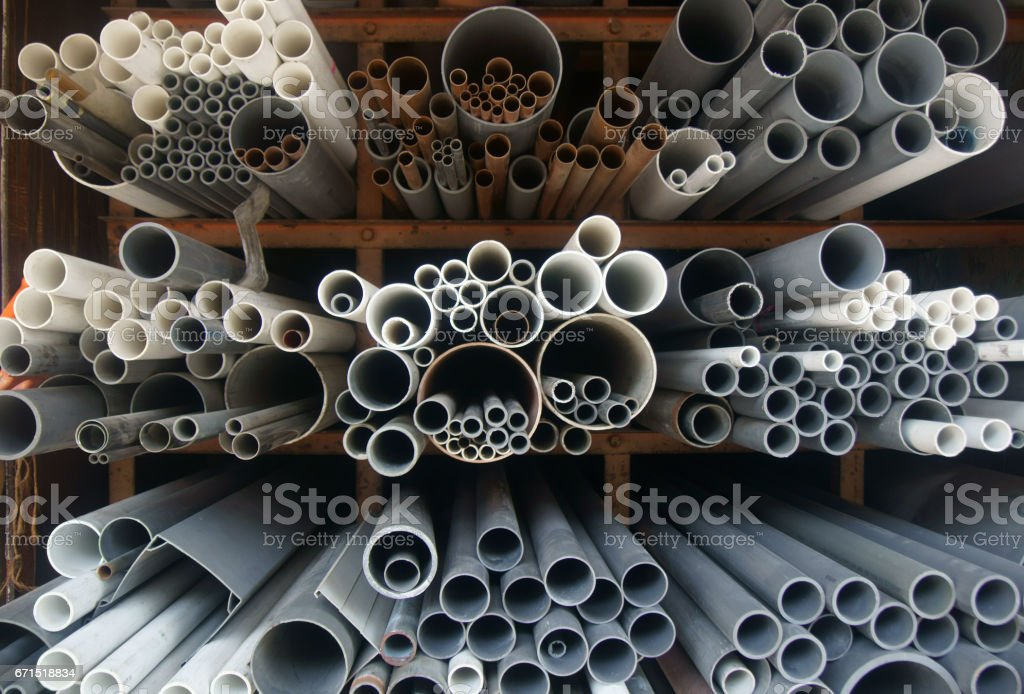 Assorted pipes - Background stock photo